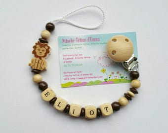 Pacifier LION natural and Brown