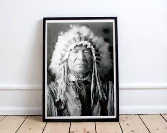 Printable Tepee Arrow Indian Poster Indian Poster Boho Kid Poster Feather Poster Historical Native American Headdress Photography Art Print