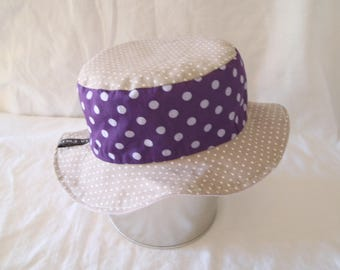 Hat - Reversible bucket Hat - 6-9 months (46 cm in diameter)
