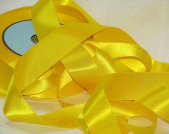 Yellow satin ribbon