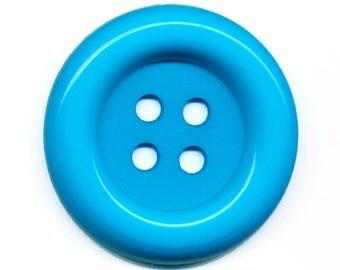 Big button turquoise clown 3.8 cm