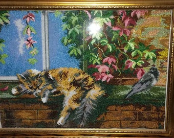 Beautiful handmade beaded picture