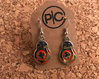 Star Wars Inspired BB-8  Dangle Earrings