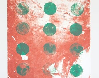 Ananda (Pink and Green) – Fine Art Lithograph