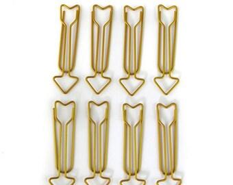 Maxi 5,8 cm - Golden arrows - 8 pcs - Toga paperclips