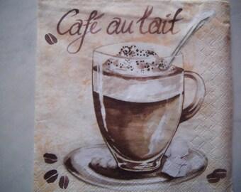 """Nice pattern """"Café au lait"""" paper TOWEL"""