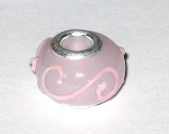 European Lampwork Rose bead twist
