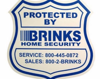 Security Stickers Etsy - Window decals for home security
