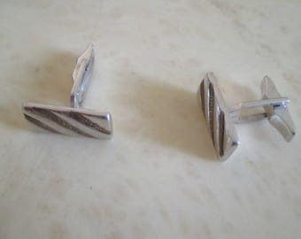 steel rectangular cuff links
