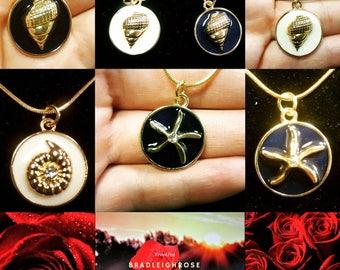 Ocean charm necklaces