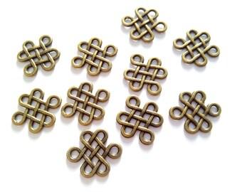 12 connectors - Antique Bronze