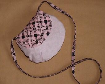 My first girl bag, mini hand bag - pink wax