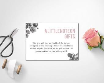 Wishing Well Card | Wedding Wishing Well | Wedding Gift Note | SAMARA - Wishing Well Card