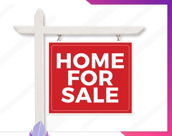 Home For Sale Yard Sign, Printable Home For Sale Signs, Real Estate Home For Sale Signs, Yard Signs, Custom Sale Signs, Multiple Sizes