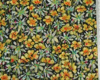 "Coupon - 33.3 cm x 135cm Liberty of London fabric - multicolored. ""Eleanora""."