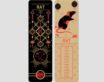 Rat Chinese Zodiac Sign (Sheng Xiao)   Bookmark