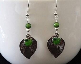 """""""Green Apple"""" earrings 5 cm"""
