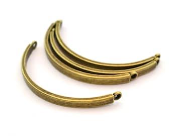 4 bars of 4.5 cm bronze bracelet connectors
