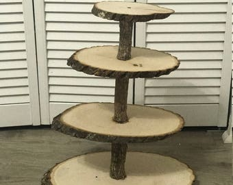 Wooden cupcake stand (4 tier)