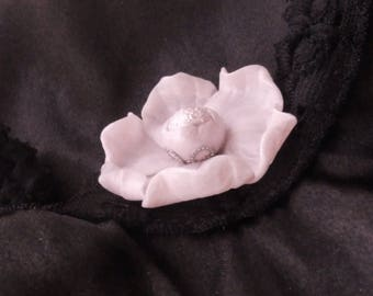 Flower cabochon * powdered transparent * individually No. 2