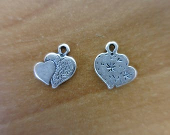 Silver hearts charm