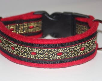 Dog Collar +Special price+ Jacquard Ribbon *Elegant*Design for Pet accessories fashion