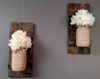 Rustic Mason Jar Wall Decor
