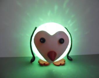 Led night light, bright polymer clay Penguin Christmas ball