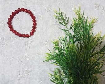 Courage Bracelet~Carnelian; Mala