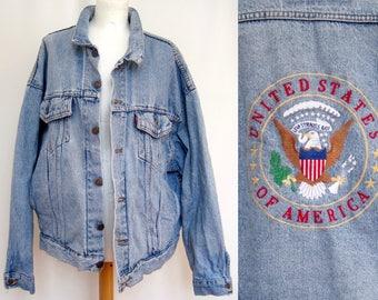 Levi's denim jacket vintage USA XL