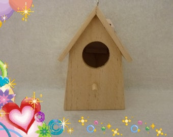 cottage birds decorate raw wood