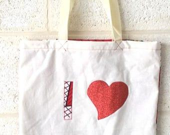 """Tote Bag """"I LOVE WAX"""""""