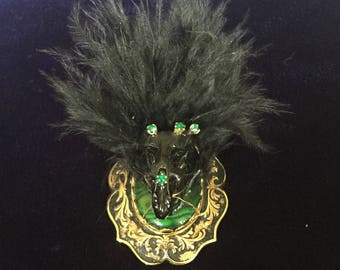 Gothic Steampunk Style Rat Skull Brooch