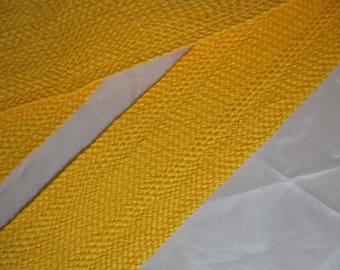 1 meter of Ribbon strap yellow bright 3 cm