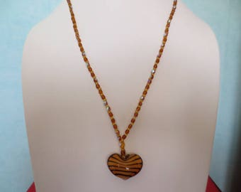 Heart shaped pendant necklace.