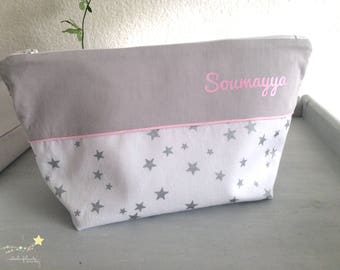 Toiletry bag personalized with inside pocket