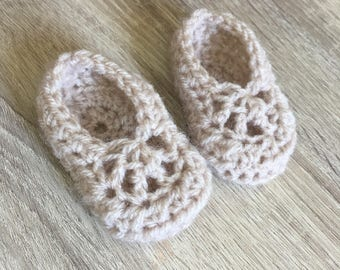 Oatmeal Baby Shoes