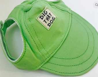 Dig That Dog Hat - Lime Green