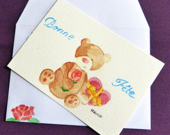 mother of day or father's Day card, numbered
