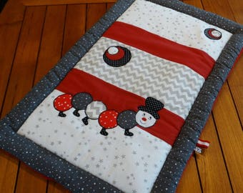 Blanket 60 x 90 cm soft Caterpillar theme