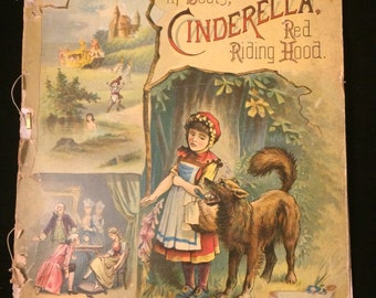 RARE circa 1895 Puss in boots, Cinderella, red riding hood - McLoughlin brothers New York
