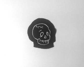 Small Skull Paint Patch