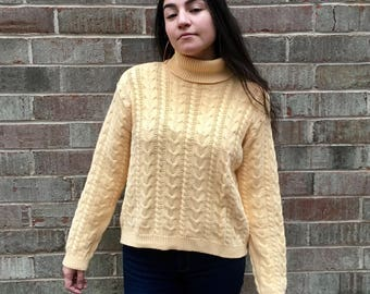 Vintage Lord and Taylor yellow turtleneck