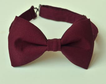 Burgundy Bow Tie-Wine Bow Ties-Mens Bow Tie-Kids Bow Tie-Maroon Bow Tie-Adult Bow Tie-Groomsmen Bow Ties-Wine Ring Bearer Bow Tie-Kid Bowtie