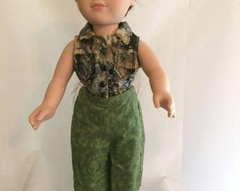 """2 pc Capris and Shirt Set for 18"""" Doll"""