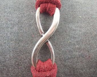 Burgundy Infinity bracelet