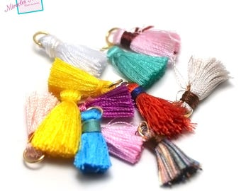 10 beautiful quality 22mm, color matching cotton tassel