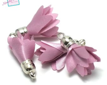 "4 tassels ""cluster"" 28 mm satin rose"