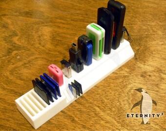 Desk Organizer_Office Organizer_Desk Storage_USB Flash Drive, SD & Micro SD Card Holder_Flash Drive Holder_Thumb Drive Holder