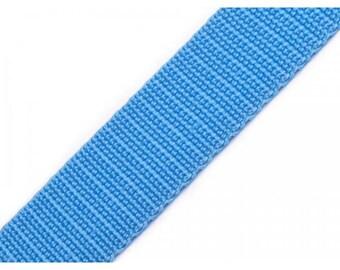 1 meter of 30 mm blue nylon webbing